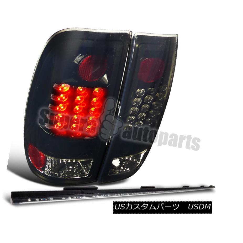 テールライト 1997-2003 Ford F150 Styleside Glossy Black Tail Lights+60