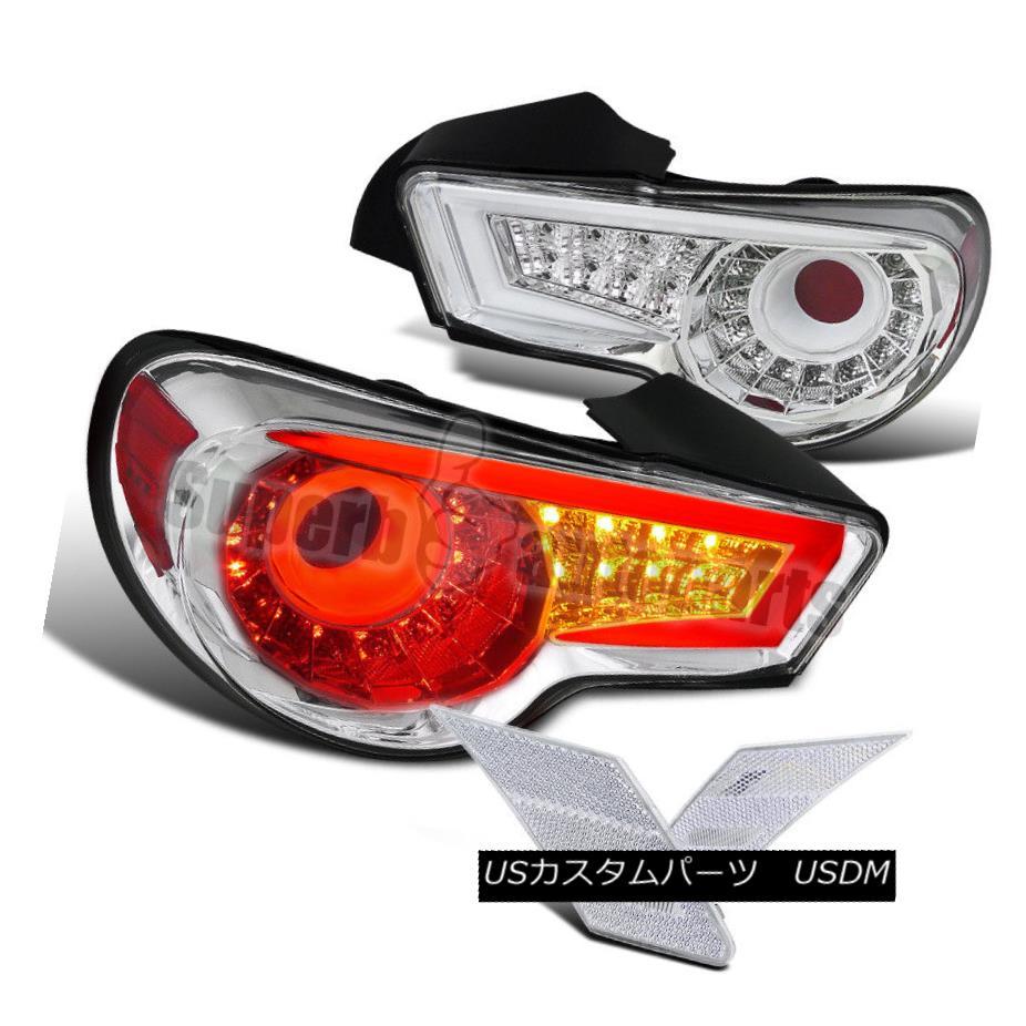 テールライト 2012-2014 FR-S 86 BRZ LED Tail Lights Brake Lamp Chrome+Clear Side Marker 2012-2014 FR-S 86 BRZ LEDテールライトブレーキランプクロム+クリアサイドマーカー