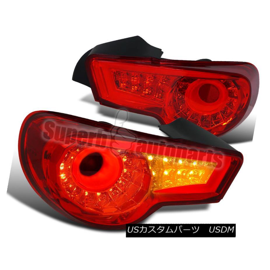 テールライト 2012-2016 FR-S 86 BRZ LED Tail Lights Brake Lamp Red Lens 2012-2016 FR-S 86 BRZ LEDテールライトブレーキランプレッドレンズ