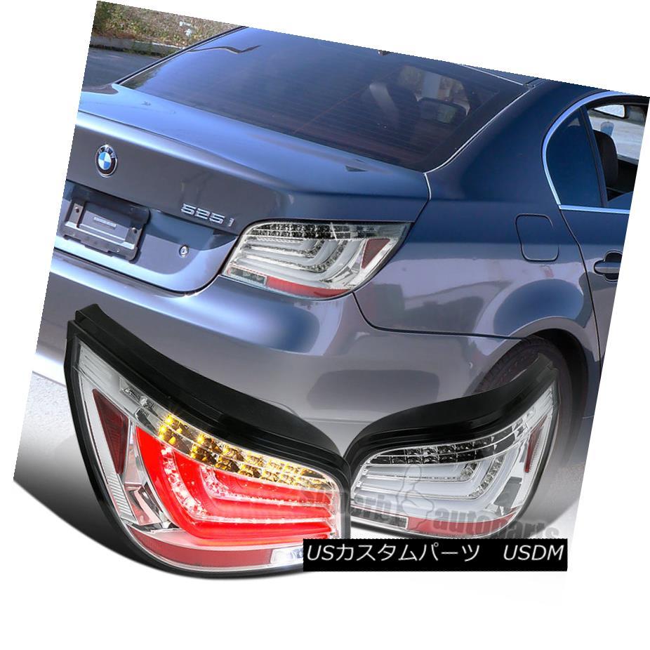 テールライト 2004-2007 BMW E60 5-Series 525i/530i 4DR Clear Rear Tail Brake Lights LED bars 2004-2007 BMW E60 5シリーズ525i / 530i 4DRクリアリアテールブレーキライトLEDバー