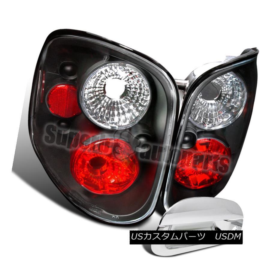 テールライト 1997-2000 Ford F150 Flareside Tail Lamp Black+Tail Gate Door Handle Cover Chrome 1997-2000 Ford F150 Flaresideテールランプブラック+テールゲートドアハンドルカバークローム