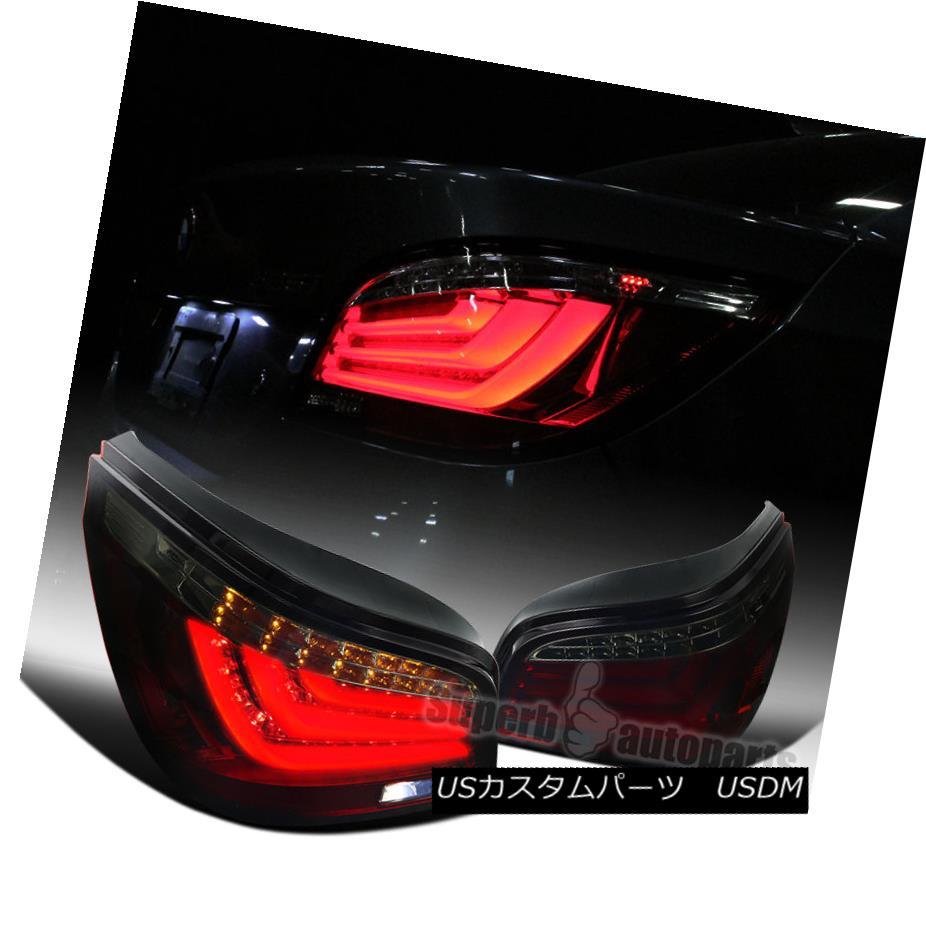 テールライト 2004-2007 BMW E60 5-Series LED Chrome Housing Red Smoke Lens Tail Lights 2004-2007 BMW E60 5シリーズLEDクロームハウジングレッドスモークレンズテールライト
