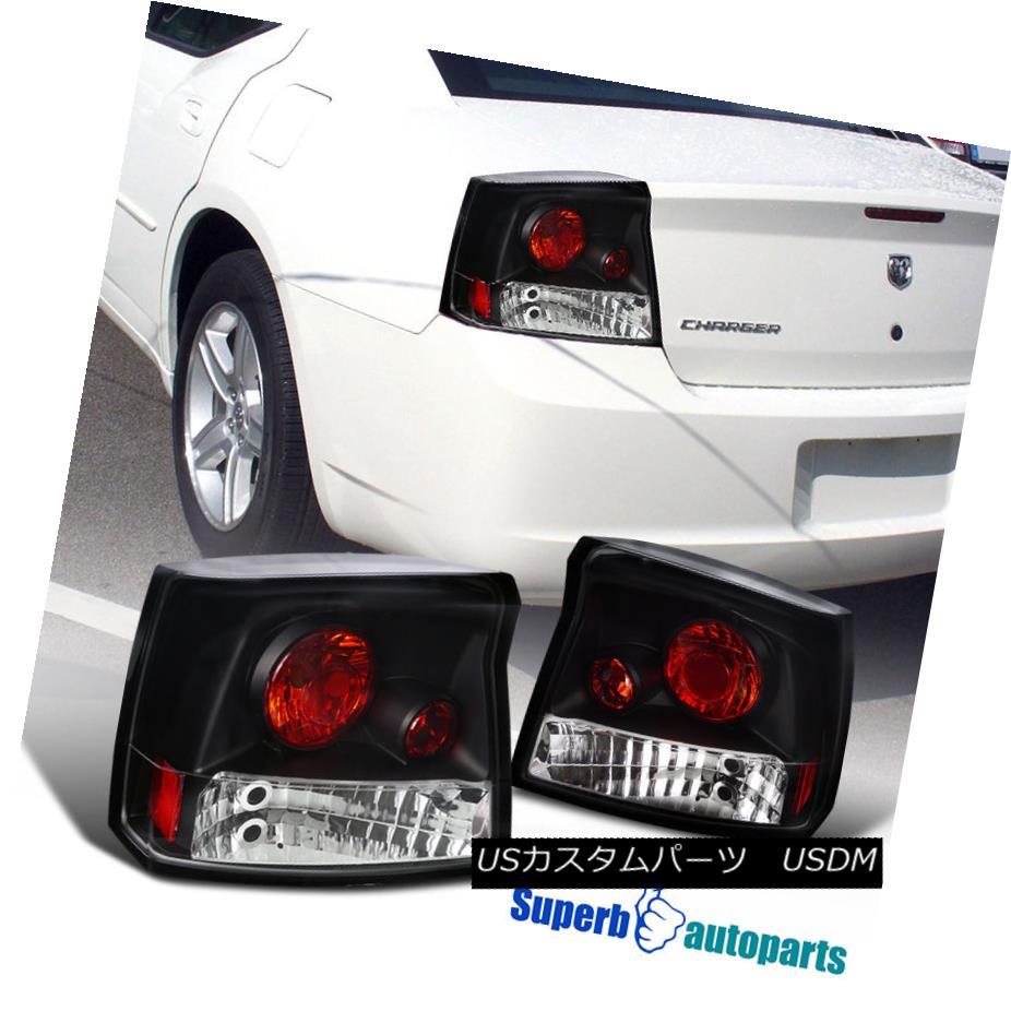テールライト 2005-2008 Dodge Charger R/T Tail Lights Rear Brake Lamp Black 2005-2008ダッジチャージャーR / Tテールライトリアブレーキランプブラック
