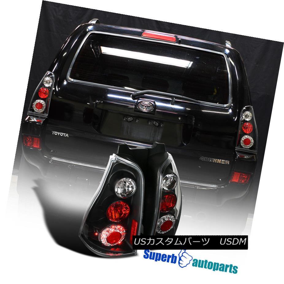 テールライト 2003-2005 Toyota 4runner Replacement Black LED Tail Lights Rear Brake Lamps 2003-2005トヨタ4ランナー交換用ブラックLEDテールライトリアブレーキランプ