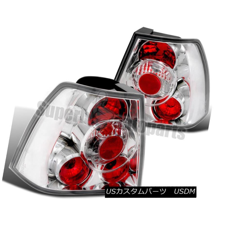 テールライト 1999-2005 VW Jetta Bora MK4 Replacement Clear Tail Lights Lamps Chrome 1999-2005 VWジェッタボラMK4交換用クリアテールライトランプクローム