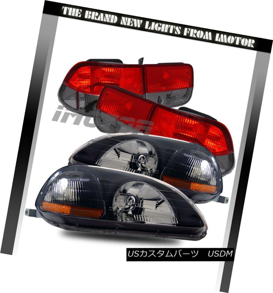 テールライト EK 96-98 Civic Civic EK EJ 2DR Black Crystal Clear Clear Headlights Lamps/Red Smoke Tail Lamps 96-98 Civic EK EJ 2DRブラッククリスタルクリアヘッドライトランプ/レッド煙テールランプ, ロータスパーツセンター:221f98d3 --- officewill.xsrv.jp