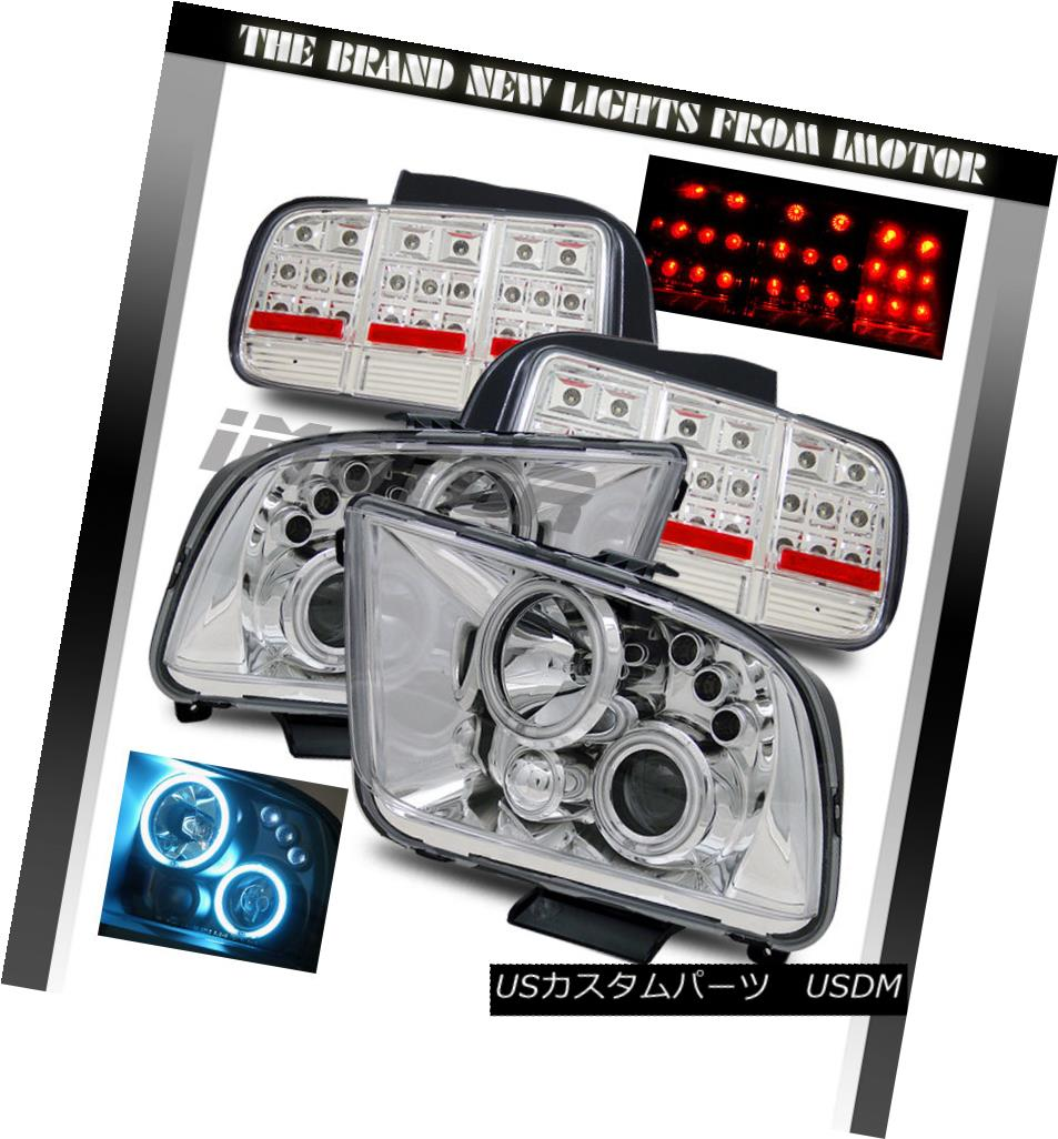 テールライト 05-09 Mustang CCFL Projector Headlights/LED Tail Lights 05-09 Mustang CCFLプロジェクターヘッドライト/ LEDテールライト