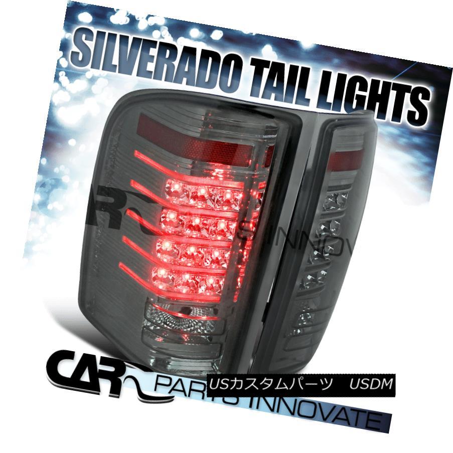 テールライト 07-14 Chevy Silverado 1500 2500 3500 Pickup Smoke LED Tail Lights Rear Lamps 07-14 Chevy Silverado 1500 2500 3500ピックアップスモークLEDテールライトリアランプ