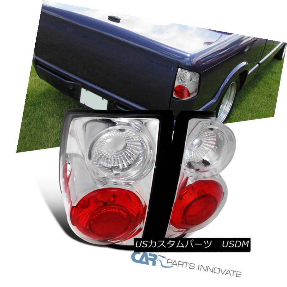 テールライト 1994-2004 Chevy S10 GMC Sonoma 95-00 Isuzu Hombre Tail Lights Brake Lamps Chrome 1994-2004シボレーS10 GMCソノマ95-00いすゞハムブレテールライトブレーキランプクローム