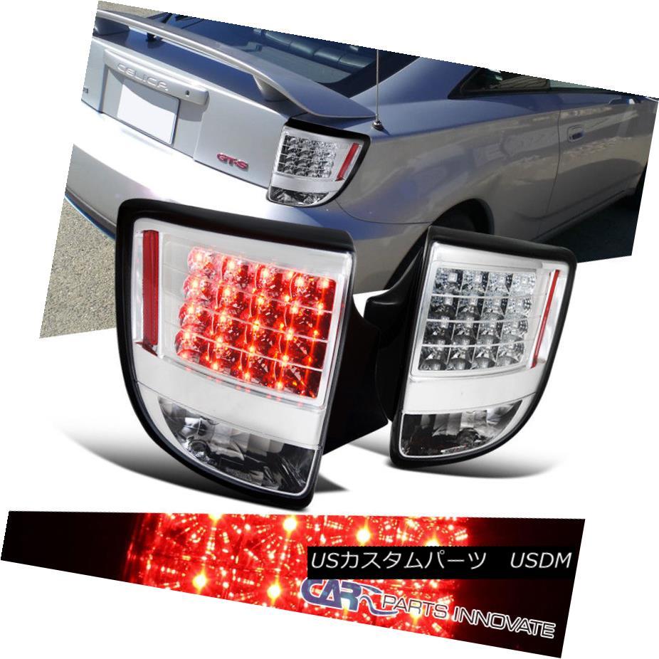 テールライト Toyota 00-05 Celica LED Chrome Clear Parking Tail Lights Brake Stop Rear Lamps トヨタ00-05 Celica LEDクロームクリアパーキングテールライトブレーキストップリアライト