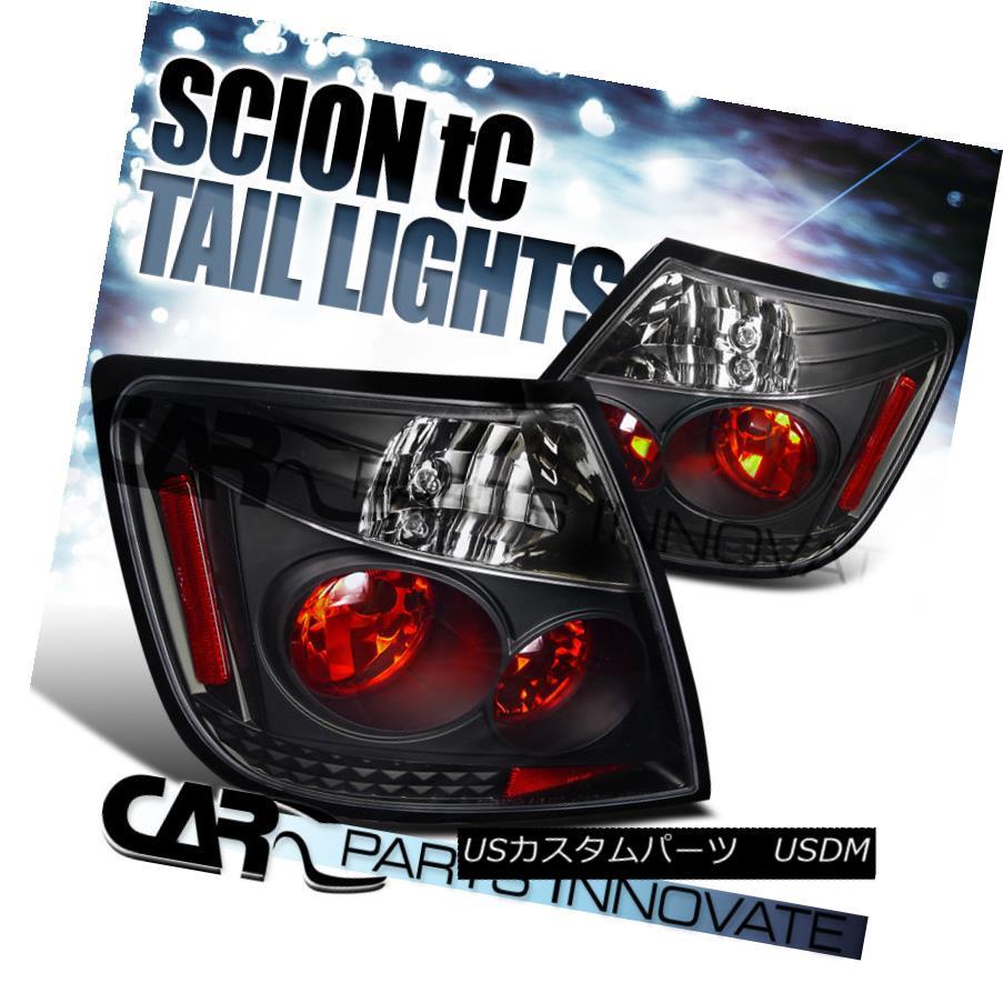 テールライト Scion 2004-2010 tC Tail Lights Brake Stop Rear Lamps Black Scion 2004-2010 tCテールライトブレーキストップリア・ランプブラック