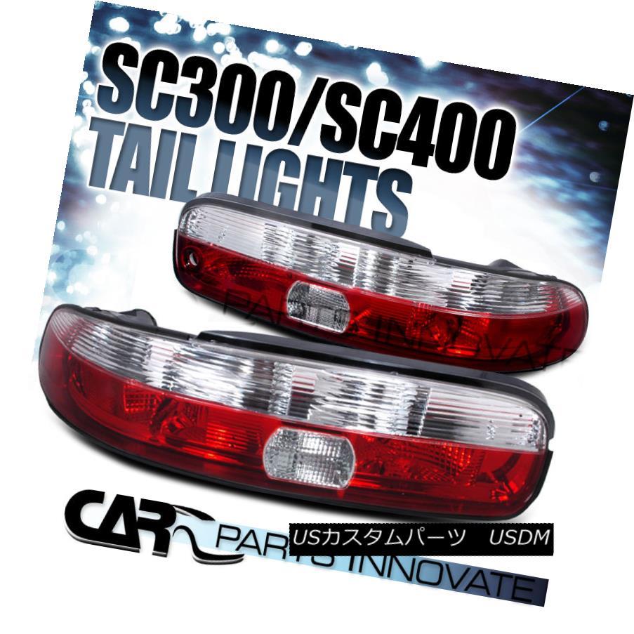 テールライト 1992-2000 Lexus SC300 SC400 Red & Clear Tail Lights Brake Lamps 1992-2000 Lexus SC300 SC400レッド& クリアテールライトブレーキランプ