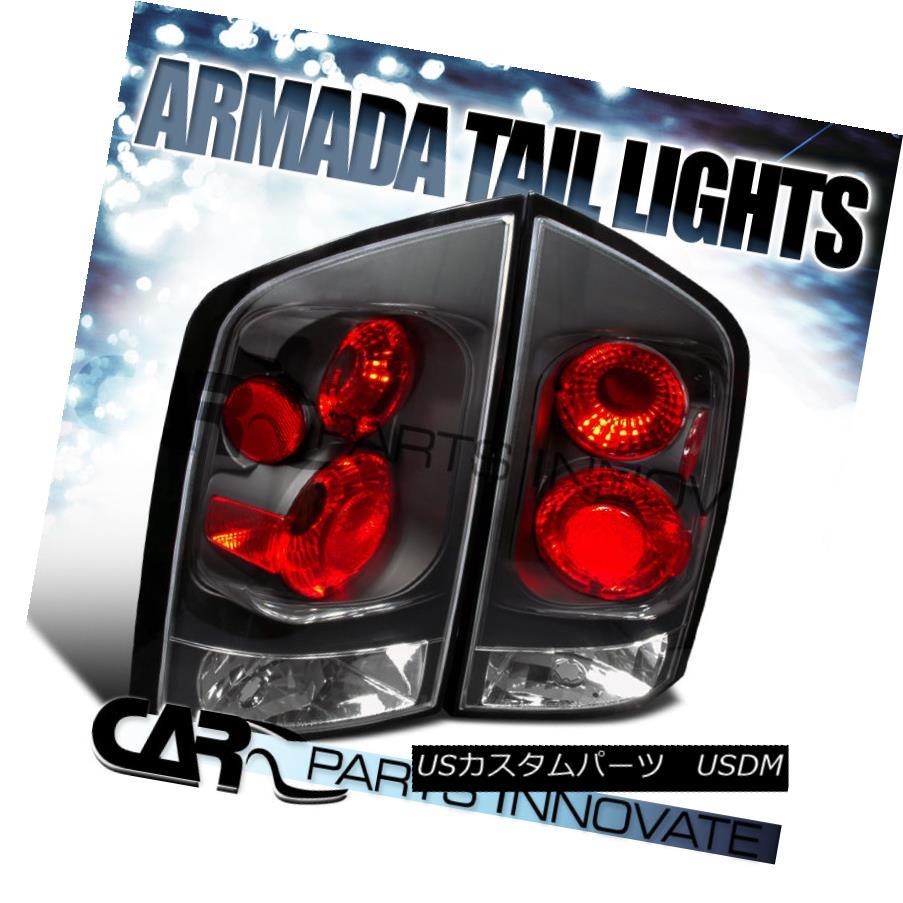 テールライト For Nissan 05-15 Armada Replacement Tail Lights Brake Stop Parking Lamps Black 日産用05-15武器交換テールライトブレーキストップパーキングランプブラック