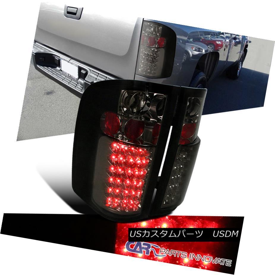 テールライト 2007-2014 Chevy Silverado 1500 2500 3500 Pickup Smoke LED Tail Lights Rear Lamps 2007-2014 Chevy Silverado 1500 2500 3500ピックアップスモークLEDテールライトリアランプ
