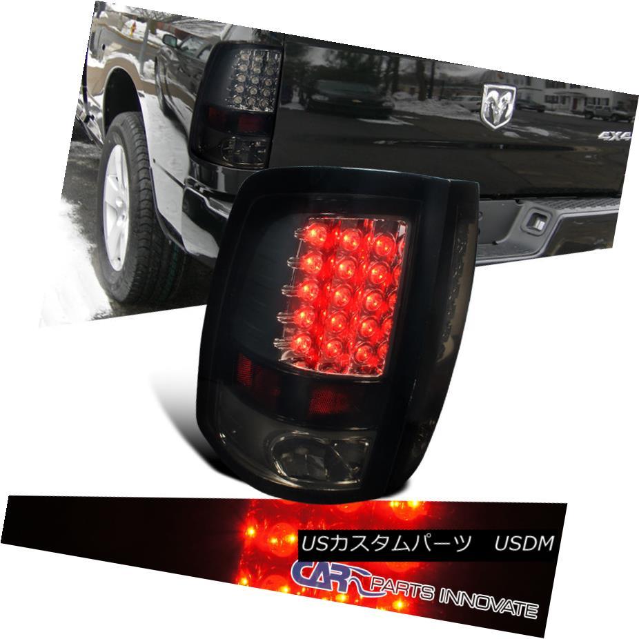 テールライト Glossy Piano Black 09-17 Ram 1500 10-17 2500 3500 Smoke Tail Brake Rear Lights 光沢のあるピアノブラック09-17 Ram 1500 10-17 2500 3500スモークテールブレーキリアライト