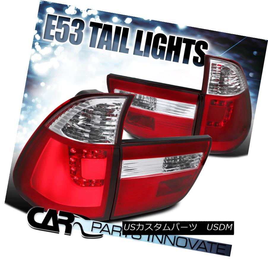 2000-2006 BMW E53 X5 RED Lens LED Rear Brake Lamps Tail Lights Left+Right