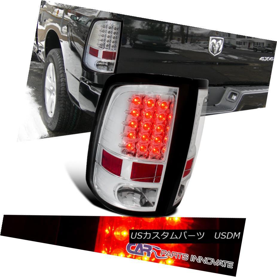 テールライト Dodge 09-17 Ram 1500 10-17 Ram 2500 3500 LED Tail Lights Brake Rear Lamp Chrome ドッジ09-17ラム1500 10-17ラム2500 3500 LEDテールライトブレーキリアライトクロム
