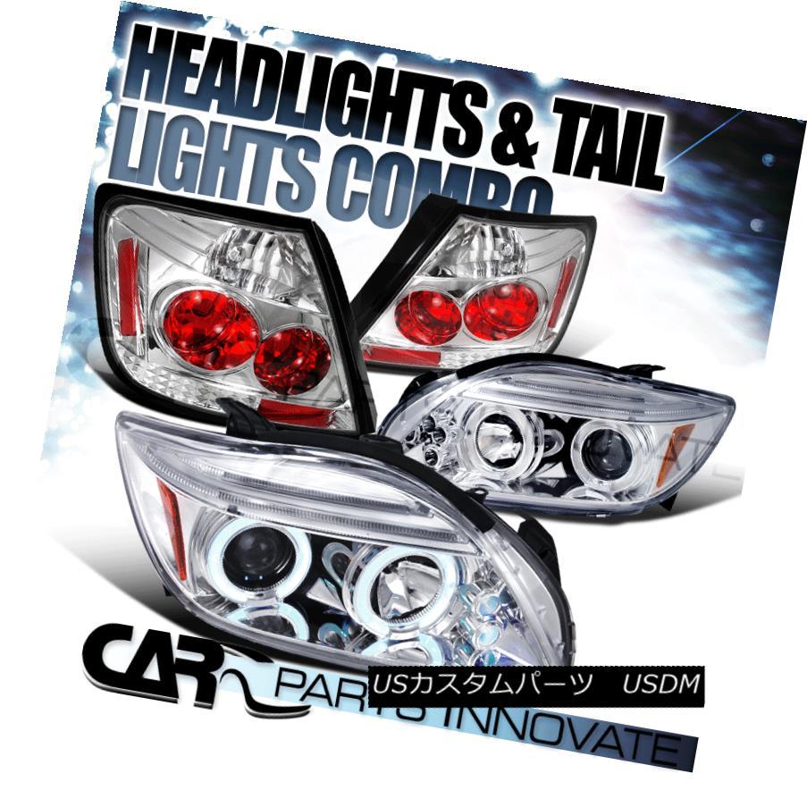テールライト 05-10 Scion tC Chrome Halo LED Projector Headlights+Clear Tail Lamp 05-10 Scion tC Chrome Halo LEDプロジェクターヘッドライト+ Cle arテールランプ