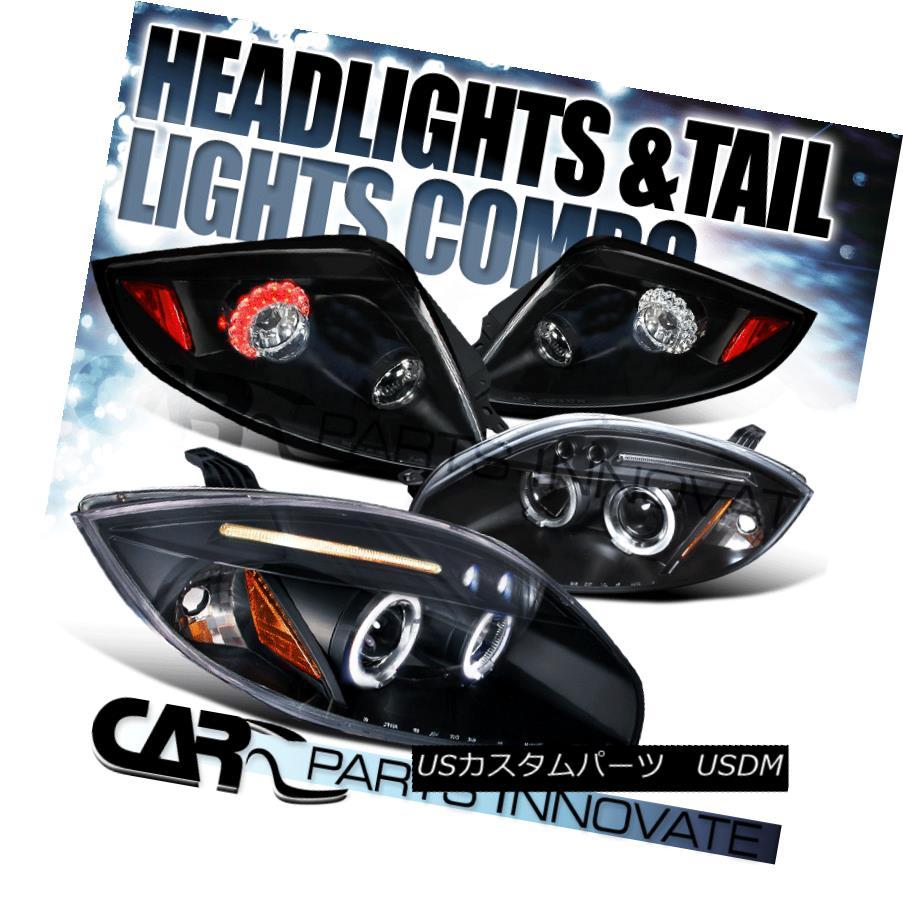 テールライト Mitsubishi 06-11 Eclipse Black Halo Projector Headlights+LED Tail Brake Lamps 三菱06-11 Eclipseブラックハロープロジェクターヘッドライト+ LEDテールブレーキランプ