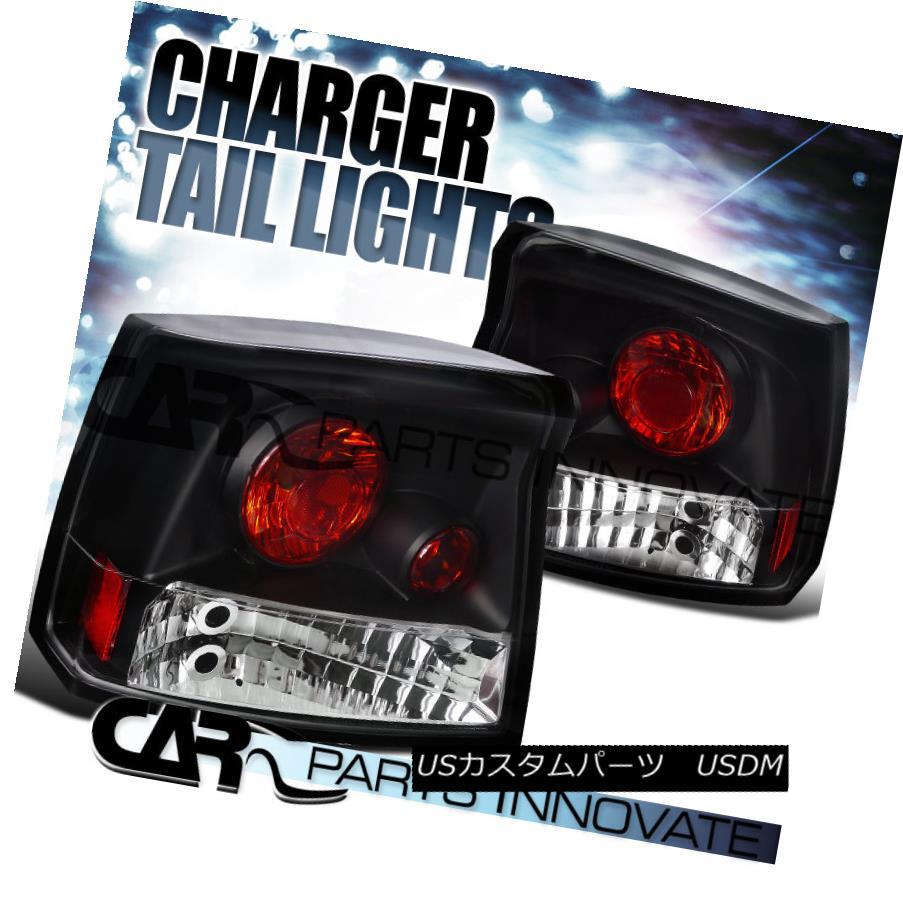 テールライト 05-08 Dodge Charger SRT8 R/T Daytona Tail Lights Rear Brake Lamp Altezza Black 05-08ダッジチャージャーSRT8 R / TデイトナテールライトリアブレーキランプAltezza Black