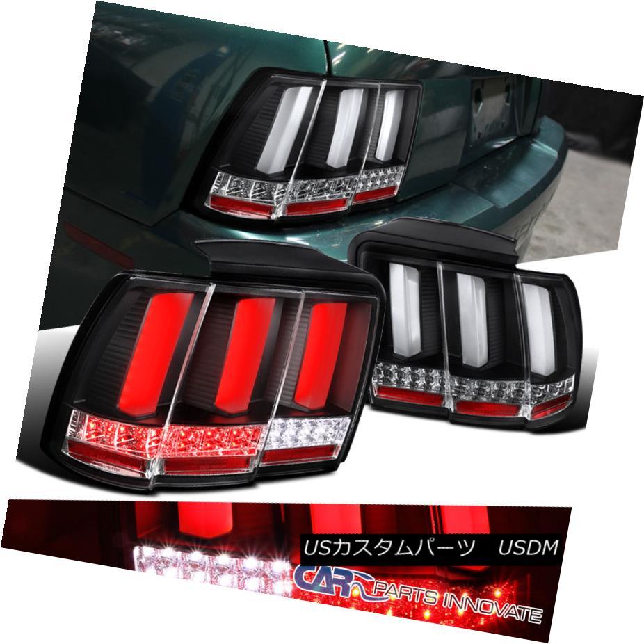 テールライト 1999-2004 Ford Mustang Black Clear LED Sequential Turn Signal Tail Brake Lights 1999-2004フォードマスタングブラッククリアLEDシーケンシャルターンシグナルテールブレーキライト
