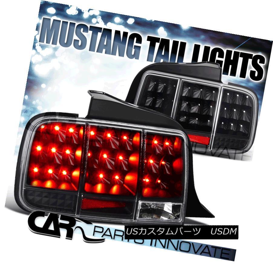 テールライト 05-09 Mustang Sequential LED Tail Lights Brake Rear Lamp Turn Signal Black 05-09マスタングシーケンシャルLEDテールライトブレーキリアタイヤ信号黒