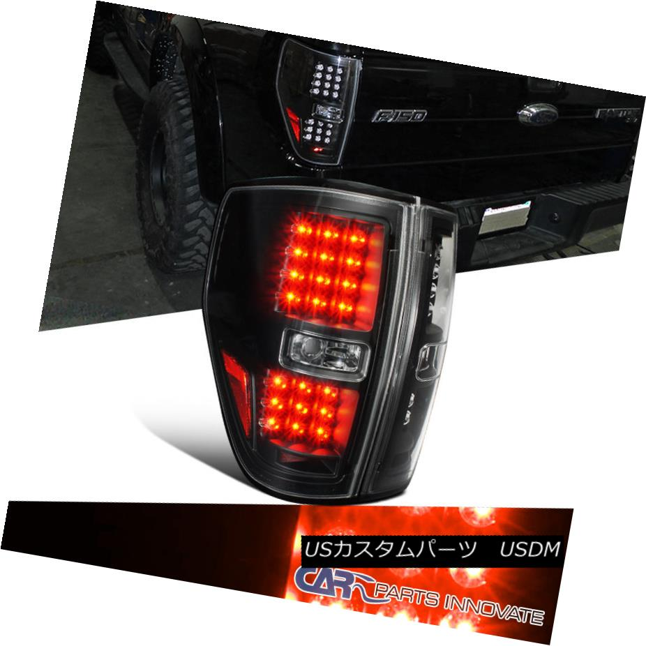 テールライト 2009-2014 Ford F150 Pickup Truck Black Clear LED Tail Lights Rear Brake Lamps 2009-2014フォードF150ピックアップトラックブラッククリアLEDテールライトリアブレーキランプ