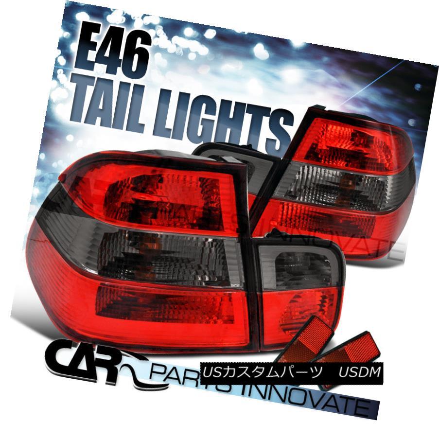 テールライト 1999-2001 BMW E46 4Dr Sedan 323i 328i Red/Smoke Tail Lights Brake Lamps 1999-2001 BMW E46 4Drセダン323i 328iレッド/スモークテールライトブレーキランプ