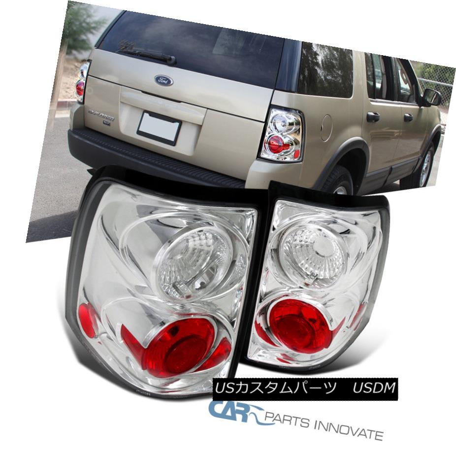 テールライト Ford 02-05 Explorer Replacement Clear 4Dr Parking Tail Lights Rear Brake Lamps フォード02-05エクスプローラー交換用クリア4Drパーキングテールライトリアブレーキランプ