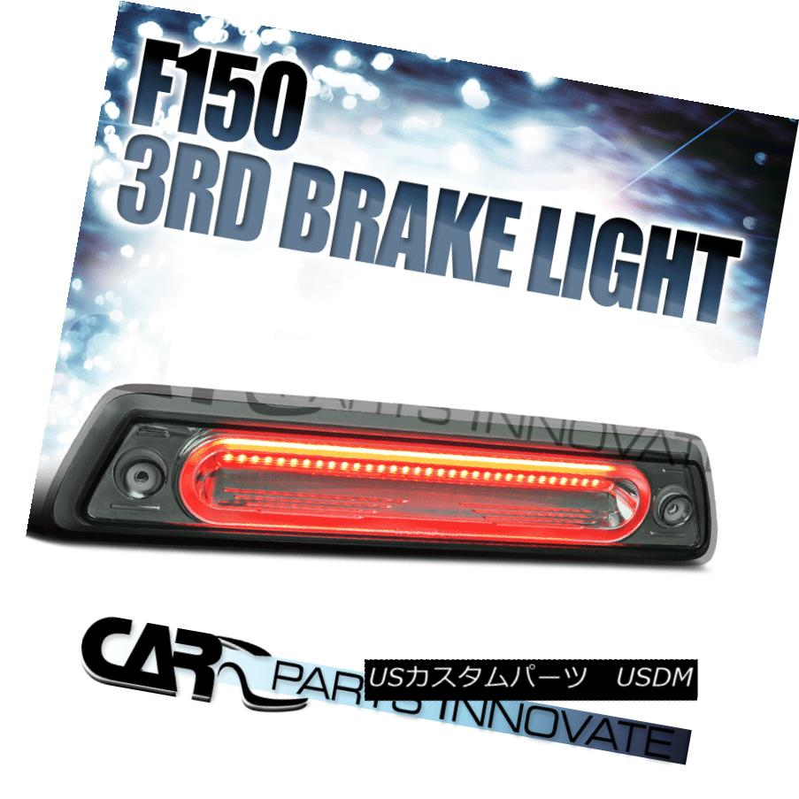テールライト 2009-2014 Ford F150 Chrome Smoke Full LED 3rd Third Brake Light Tail Rear Lamp 2009?2014年フォードF150クロームスモークフルLED第3ブレーキライトテールリアランプ