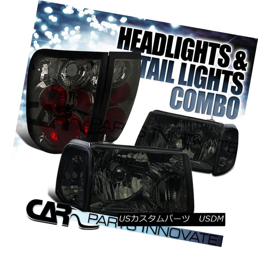 テールライト 01-05 Ranger Smoke Crystal Headlights+Corner Signal Lamp+Tinted Tail Light 01-05レンジャースモーククリスタルヘッドライト+コルク ner信号ランプ+テールテールライト
