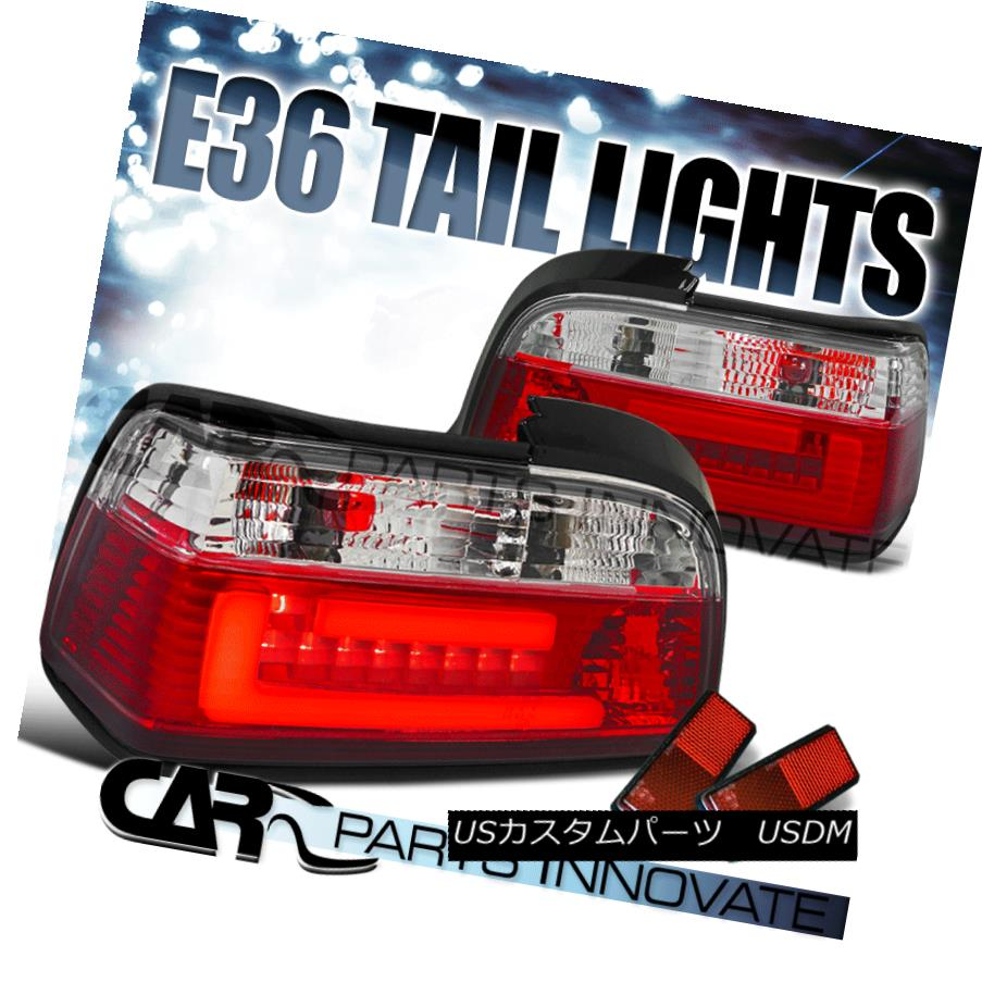 テールライト BMW 92-98 E36 2Dr 318i 325i 328i M3 3D LED Tail Lights Rear Brake Lamp Red Clear BMW 92-98 E36 2Dr 318i 325i 328i M3 3D LEDテールライトリアブレーキランプレッドクリア