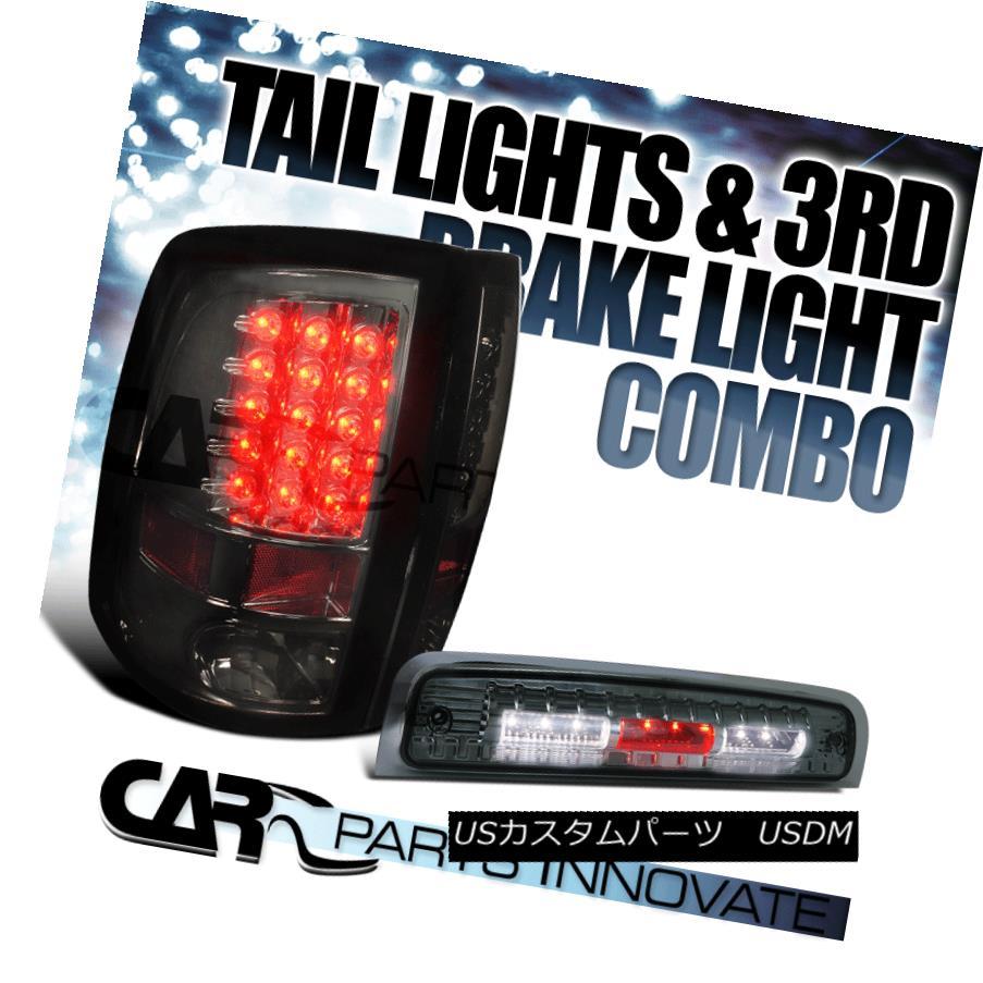 テールライト 2009-2013 Dodge Ram 1500 2500 3500 Smoke LED Tail Lights+SMD LED 3rd Brake Lamp 2009-2013 Dodge Ram 1500 2500 3500 SMD LEDテールライト+ SMD LED第3ブレーキランプ