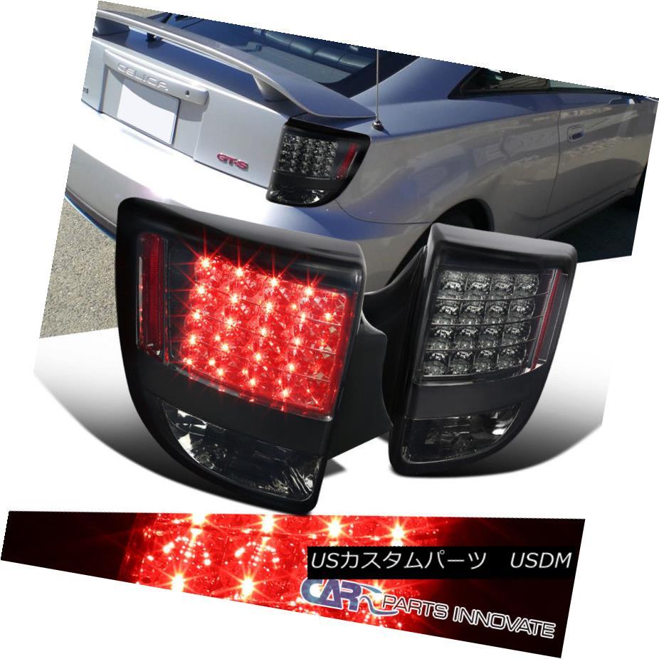 テールライト Toyota 00-05 Celica LED Smoke Tinted Parking Tail Lights Brake Stop Rear Lamps トヨタ00-05 Celica LED煙がかかった駐車テールライトブレーキストップリア・ランプ