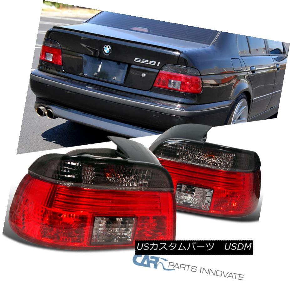 テールライト BMW 97-00 E39 528i 540i M5 5-Series Tail Lights Rear Brake Lamps Red Smoke Set BMW 97-00 E39 528i 540i M5 5シリーズテールライトリアブレーキランプレッドスモークセット