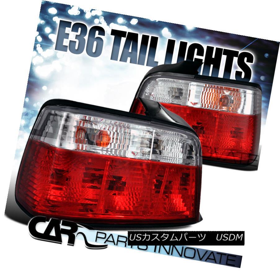 テールライト 1992-1998 BMW E36 318i 325i 328i M3 4Dr Red/Clear Lens Tail Lights Brake Lamp 1992-1998 BMW E36 318i 325i 328i M3 4Drレッド/クリアレンズテールライトブレーキランプ