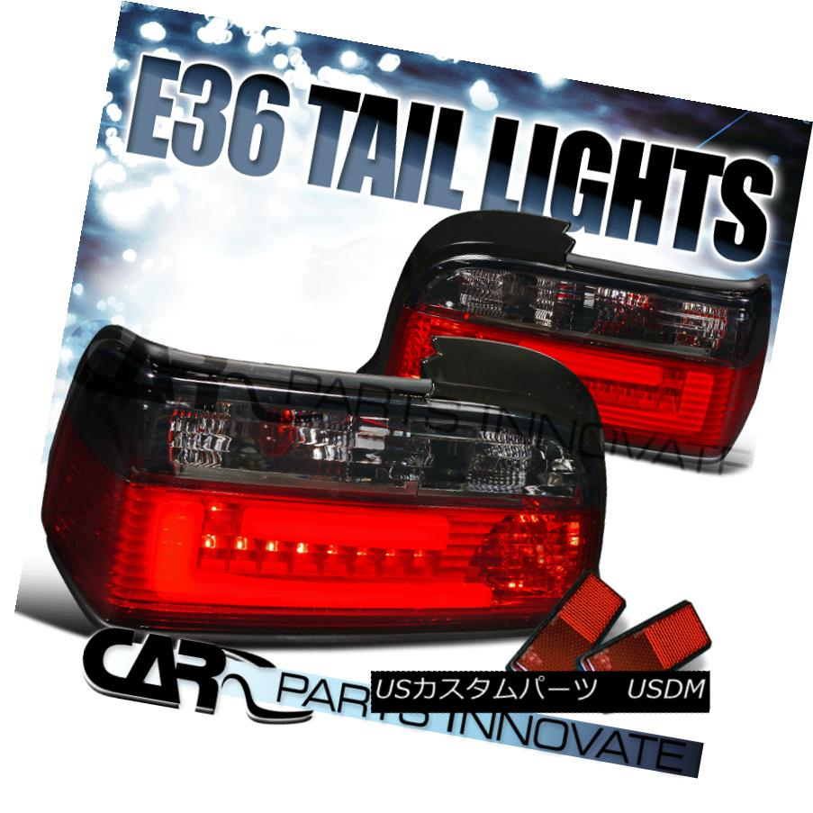 テールライト BMW 92-98 E36 2Dr 318i 325i 328i M3 3D LED Tail Lights Rear Brake Lamp Red Smoke BMW 92-98 E36 2Dr 318i 325i 328i M3 3D LEDテールライトリアブレーキランプレッドスモーク