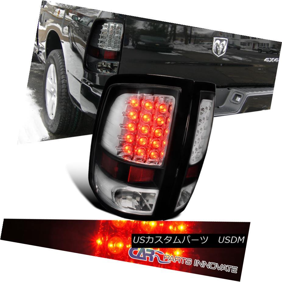 テールライト Dodge 09-17 Ram 1500 10-17 Ram 2500 3500 LED Tail Lights Brake Rear Lamp Black ドッジ09-17ラム1500 10-17ラム2500 3500 LEDテールライトブレーキリアライトブラック