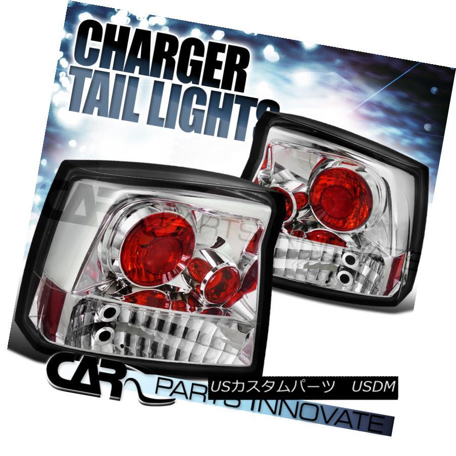 テールライト 2005-2008 Dodge Charger SRT8 R/T Altezza Chrome Tail Lights Rear Lamp 2005-2008ダッジチャージャーSRT8 R / T Altezzaクロームテールライトリアランプ
