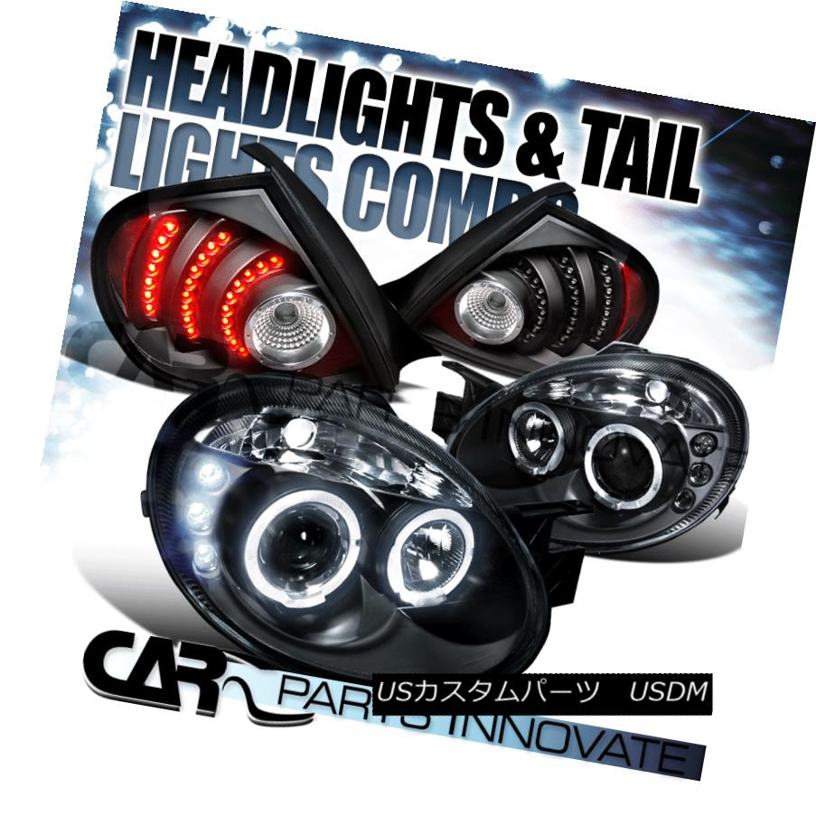 テールライト 2003-2005 Dodge Neon Black Halo Projector Headlights+LED Tail Lamps 2003-2005 Dodge Neon Black Haloプロジェクターヘッドライト+ LEDテールランプ