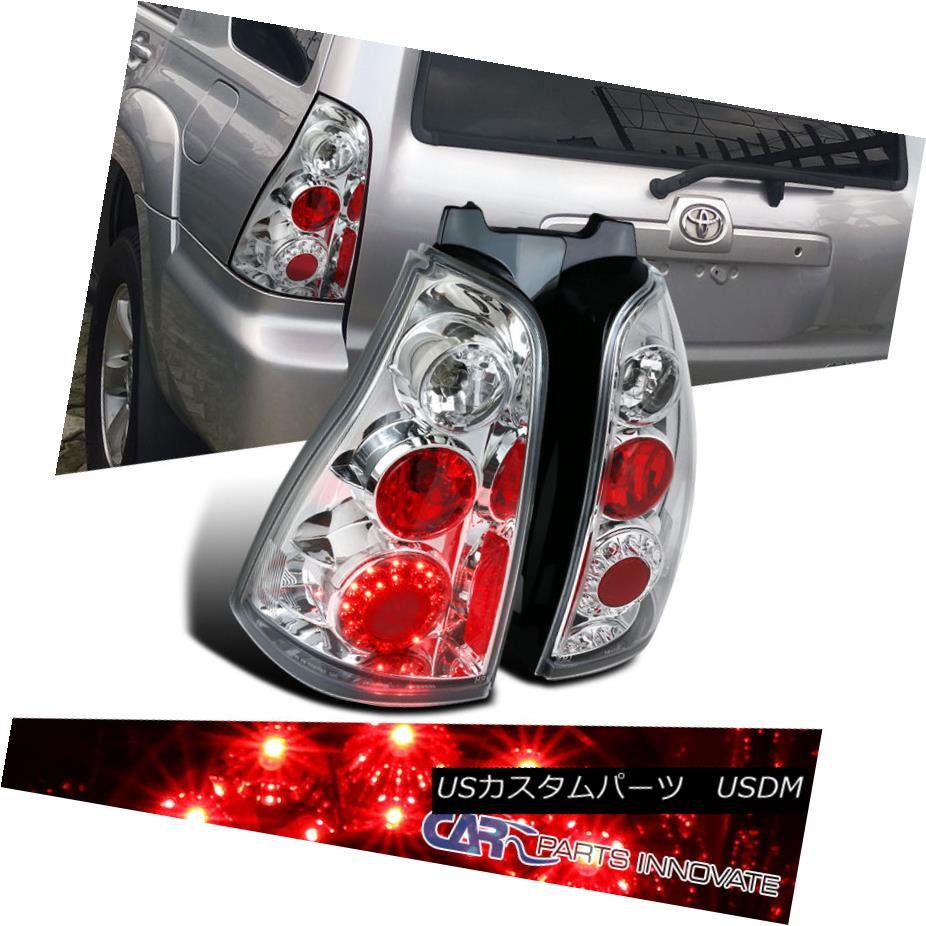テールライト 03-05 Toyota 4Runner Chrome Clear LED Tail Lights Rear Brake Lamps Replacement 03-05トヨタ4RunnerクロームクリアLEDテールライトリアブレーキランプの交換
