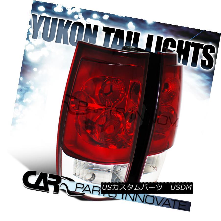 テールライト 07-14 Chevy Tahoe Suburban GMC Yukon XL Red/ Clear Tail Lights Rear Brake Lamps 07-14 Chevy Tahoe郊外GMC Yukon XLレッド/クリアテールライトリアブレーキランプ