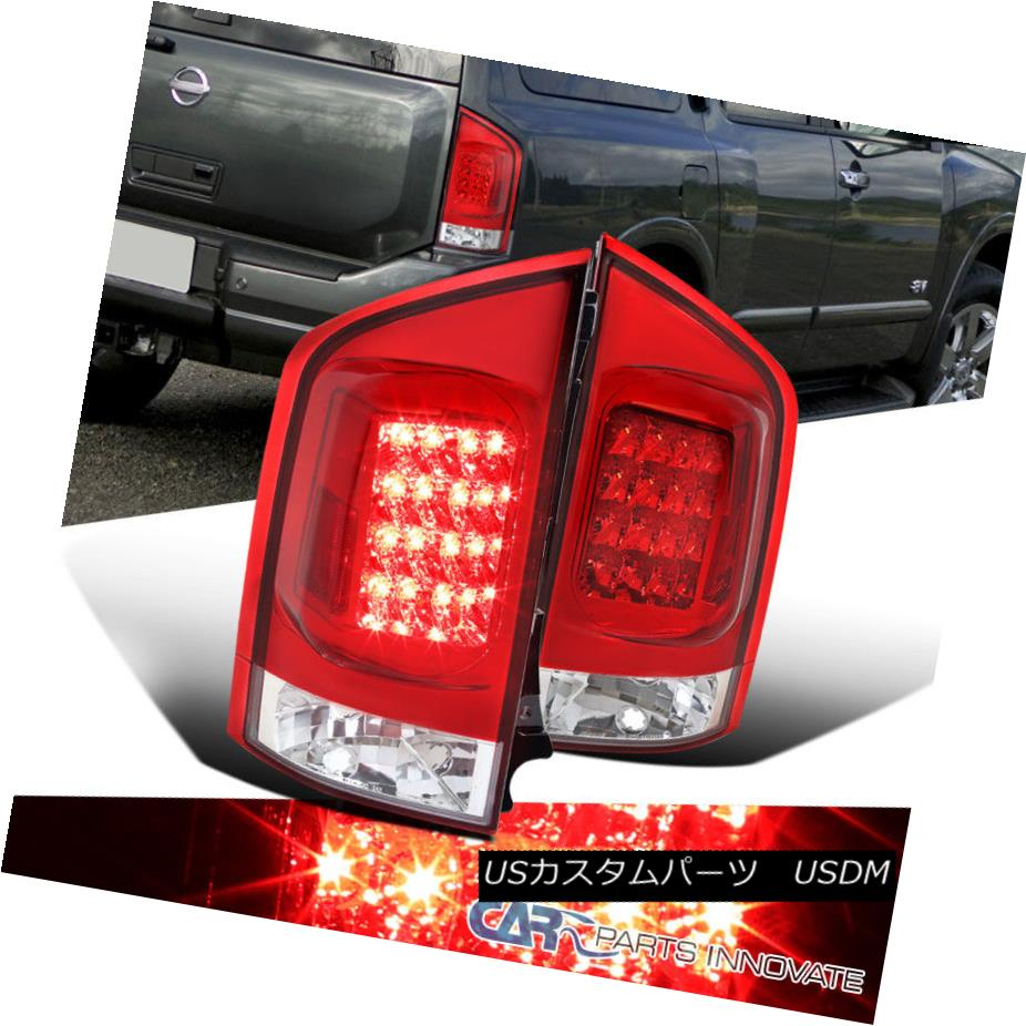 テールライト For Nissan 05-15 Nissan Armada LED Replacement Red For Clear LED Tail Lights Rear Brake Lamps 05-15日産アルマダ交換用クリアLEDテールライトリアブレーキランプ, ヤマガシ:e3bdca0b --- officewill.xsrv.jp