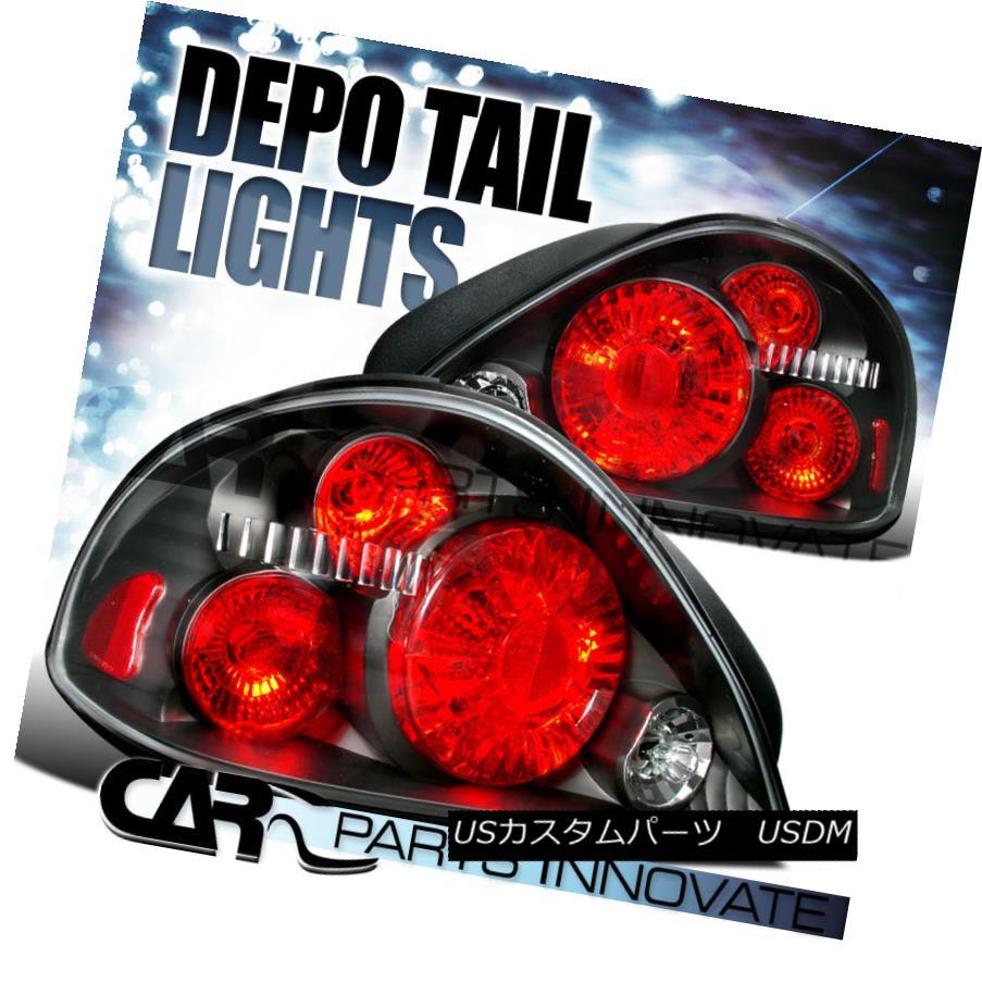 テールライト 1999-2005 Pontiac Grand Am Black Tail Lights Brake Lamp DEPO 1999-2005ポンティアックグランドアムブラックテールライトブレーキランプDEPO
