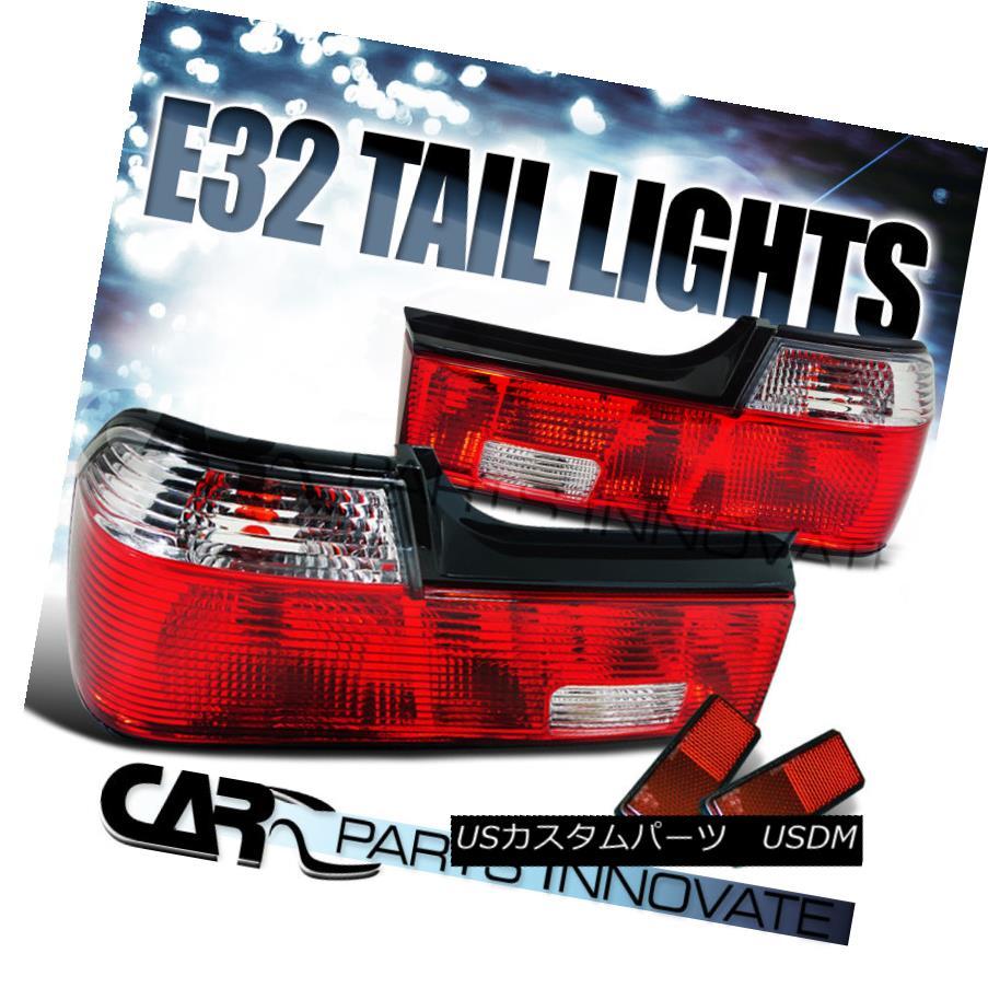 テールライト BMW 88-94 E32 7-Series 735i 750iL 740i Tail Lights Rear Brake Lamp Red Clear BMW 88-94 E32 7-シリーズ735i 750iL 740iテールライトリアブレーキランプレッドクリア