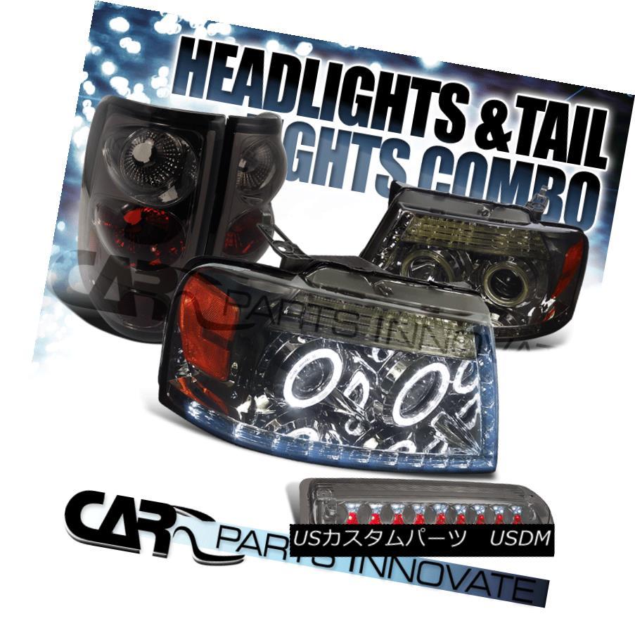 テールライト 04-08 F150 Styleside Smoke Halo Projector LED Headlight+Tail+LED 3rd Brake Lamp 04-08 F150 Styleside Smoke HaloプロジェクターLEDヘッドライト+テール + LED第3ブレーキランプ