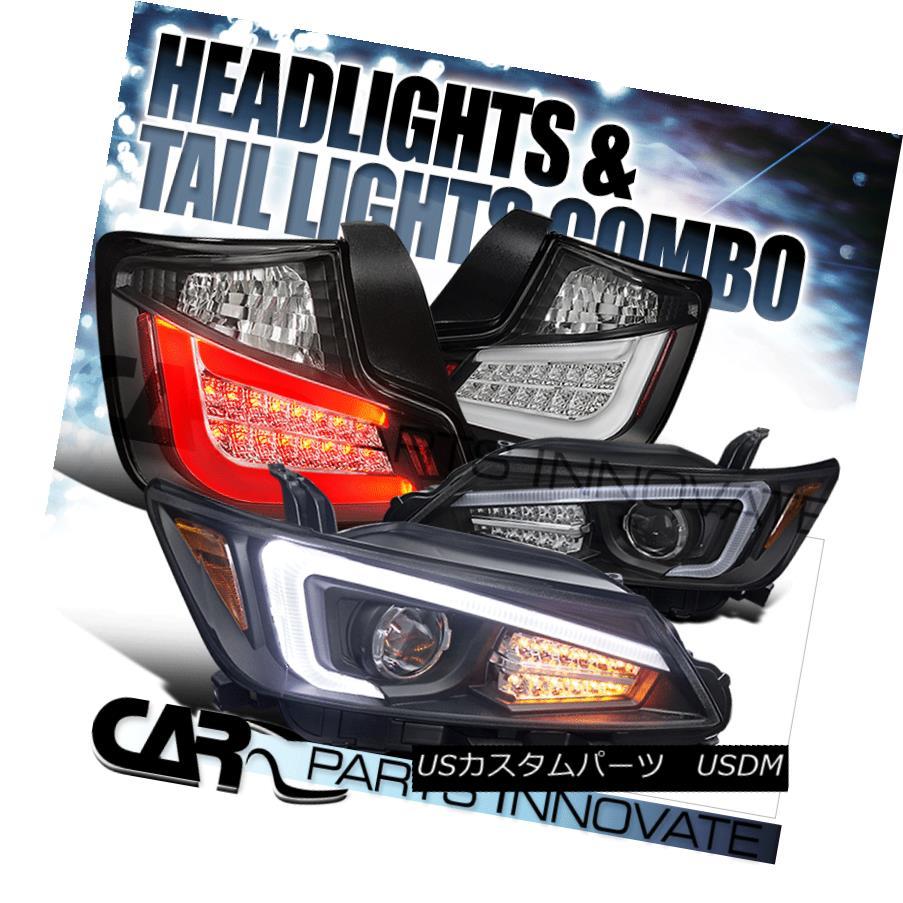 テールライト 2011-2013 Scion tC Black Projector Headlights+LED Signal+Black LED Tail Lamp 2011-2013シオンtCブラックプロジェクターヘッドライト+ LED信号+ブラックLEDテールランプ
