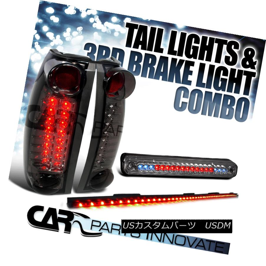 テールライト 88-98 Chevy/GMC C10 C/K Smoke LED Tail Lights+3rd Brake+49
