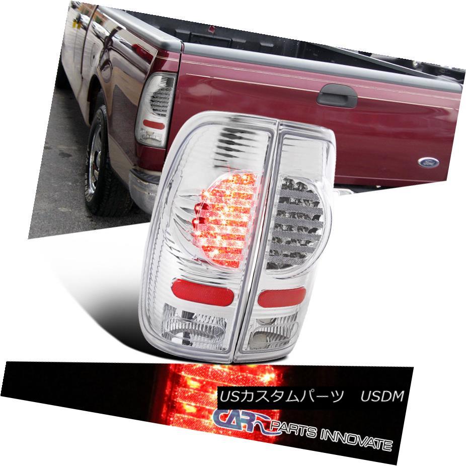 テールライト 97-07 Ford F150 F250 F350 F450 F550 Styleside Chrome LED Tail Lights Brake Lamps 97-07 Ford F150 F250 F350 F450 F550 StylesideクロームLEDテールライトブレーキランプ