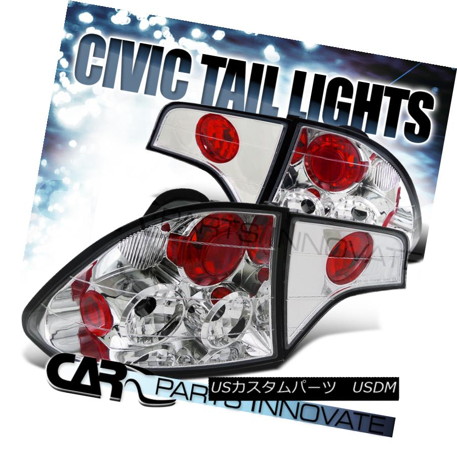 テールライト Fit Honda 06-11 Civic 4Dr Sedan Tail Lights Brake Rear Lamp Altezza Clear フィットホンダ06-11シビック4Drセダンテールライトブレーキリアライトアルテッツァクリア